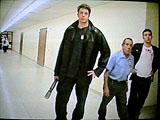 School caretaker walking by.